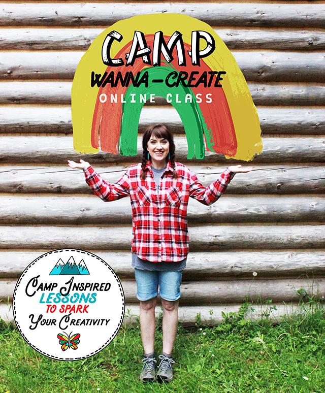 new summer online class: camp wanna-create!