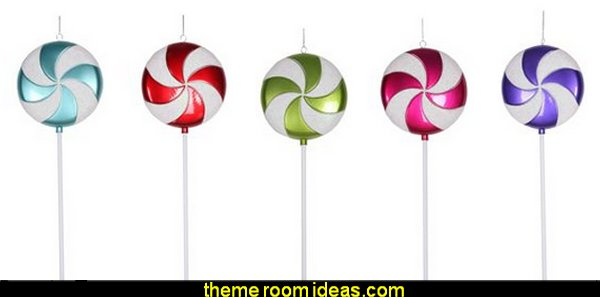 Candy Lollipop Christmas Ornaments   candy Christmas theme decorating - candy themed christmas decorations - christmas candyland decorations -  candy ornaments -  candy shaped holiday ornaments - candy themed Christmas decor -   lollipop candy swirls Throw Pillows - Candy Christmas Tree  - candy stripe Chritmas decor - Candy Cupcake Ornaments