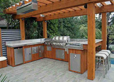 Desain Dapur Basah diluar Rumah Terbaik