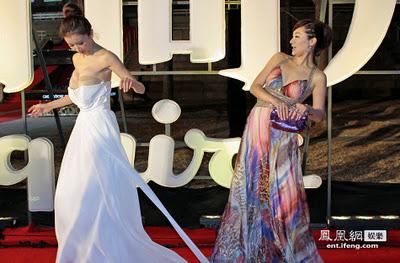 of Sun Feifei's red carpet wardrobe malfunction exposed ...