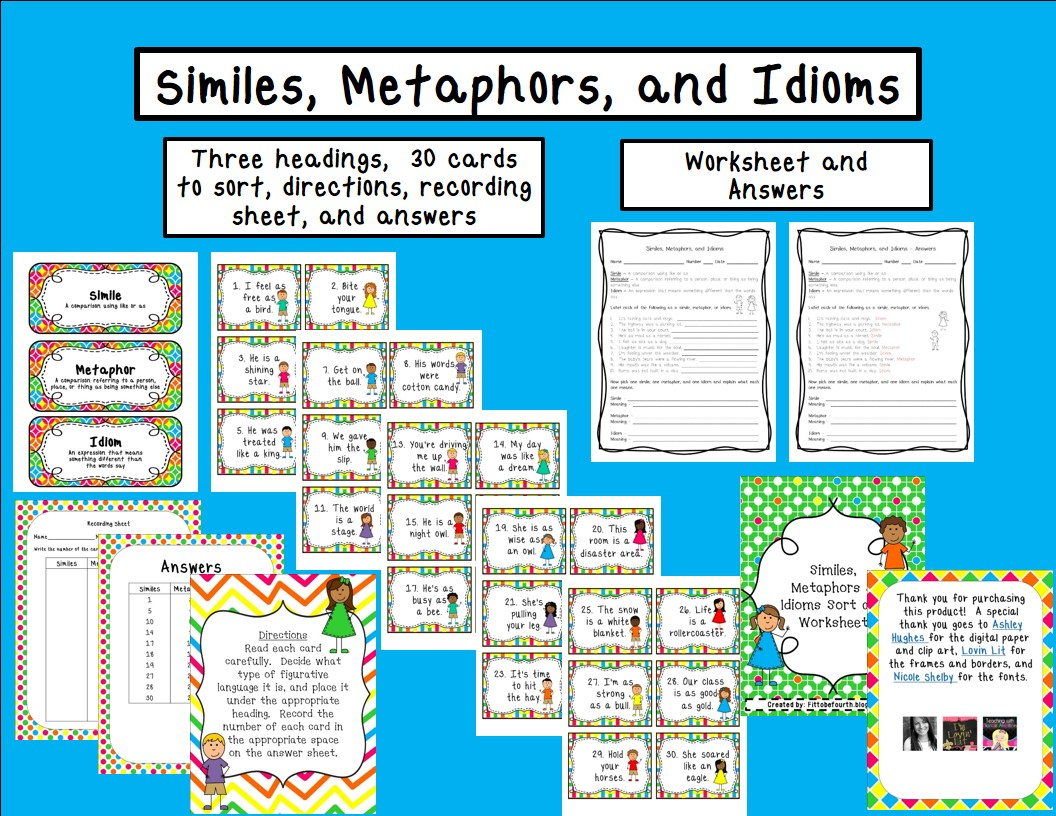 Fit To Be Fourth Similes Metaphors Amp Idioms With A