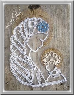 ecaf5b3c6c7273 Hand Made Frywolitki Ireny: Madonny i aniołek koronka klockowa