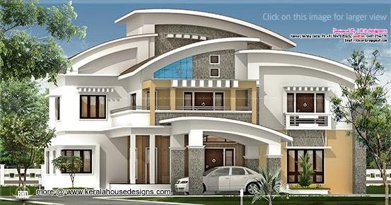 3750 Square Feet Luxury Villa Exterior Kerala Home