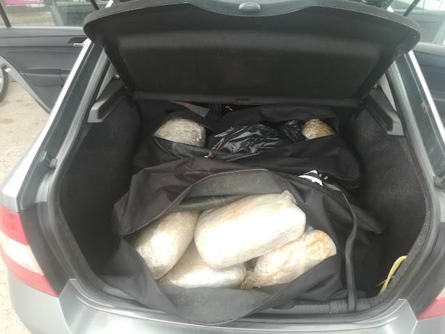 """Θεσπρωτία: Συνελήφθησαν δύο άτομα με 41 κιλά κάνναβης και 2,2 κιλά """"σοκολάτα"""""""