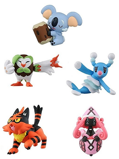 Komala Dartrix Brionne Torracat Tapu Lele Figure Tomy Monster Collection