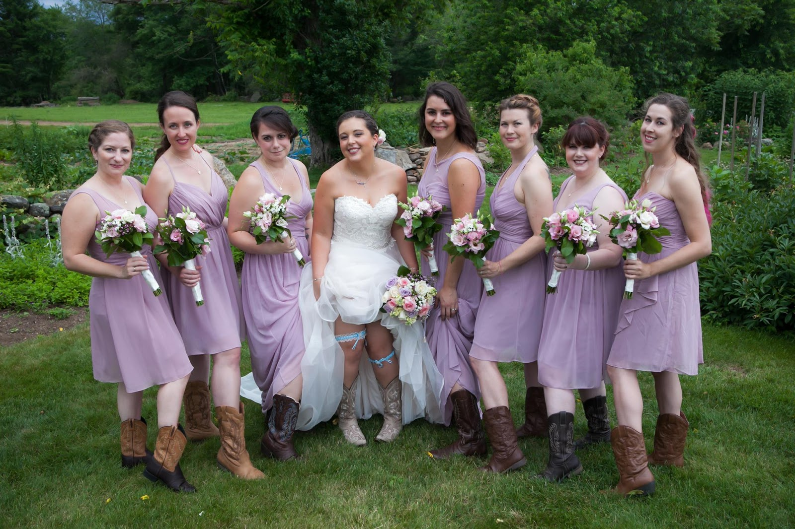 I Ve Always Loved Purple And Rose So Those Colors Were Prominent Throughout Our Wedding With Bits Of Yellow As A Highlight Let My Bridesmaids Pick