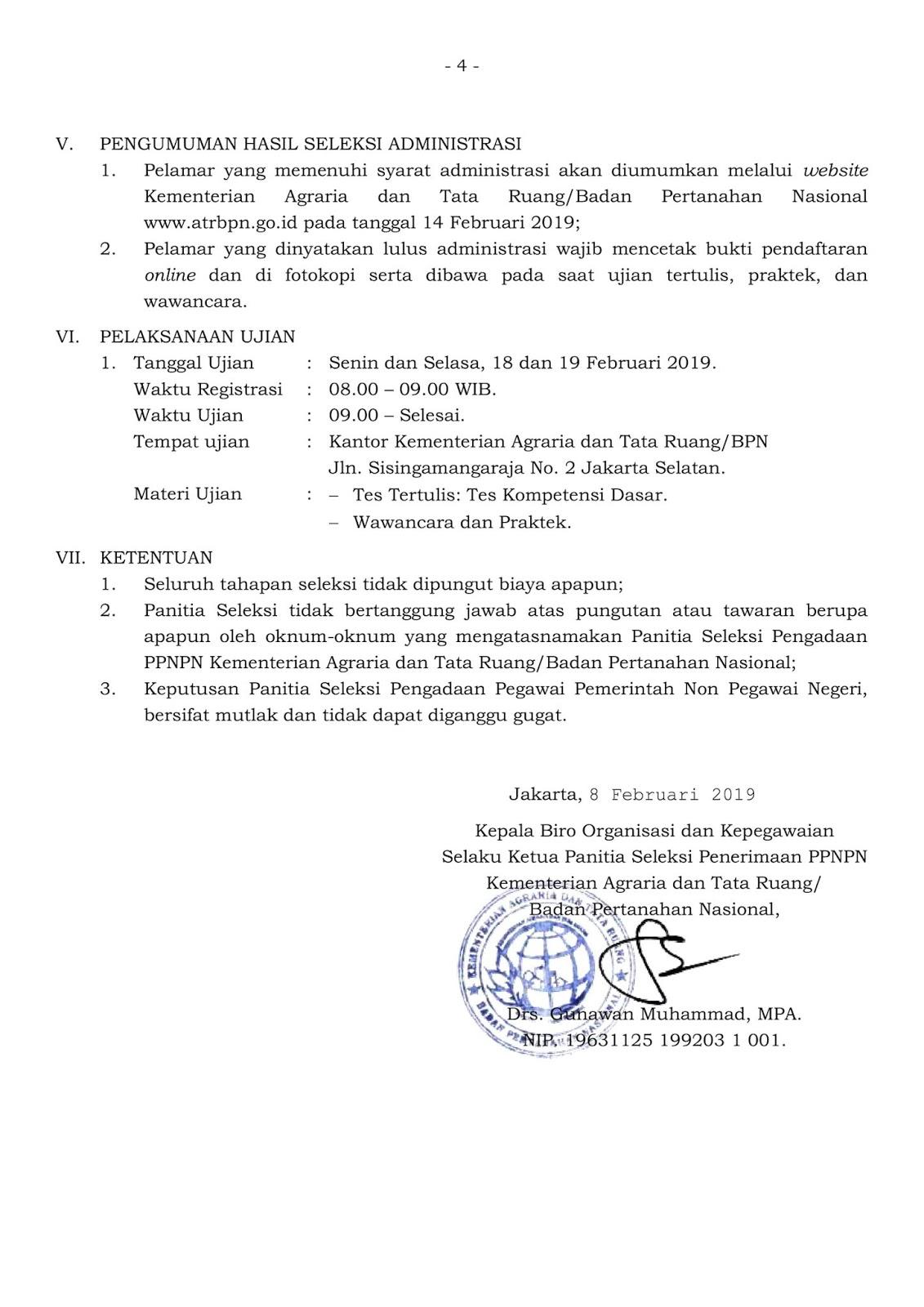 Lowongan Kerja Kementerian Agraria dan Tata Ruang Minimal D3 S1 Semua Jurusan