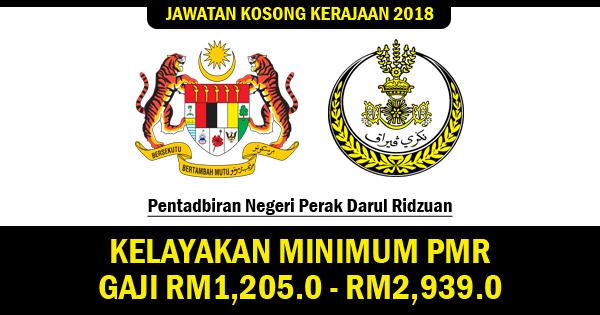 jawatan kosong kerajaan negeri perak 2018
