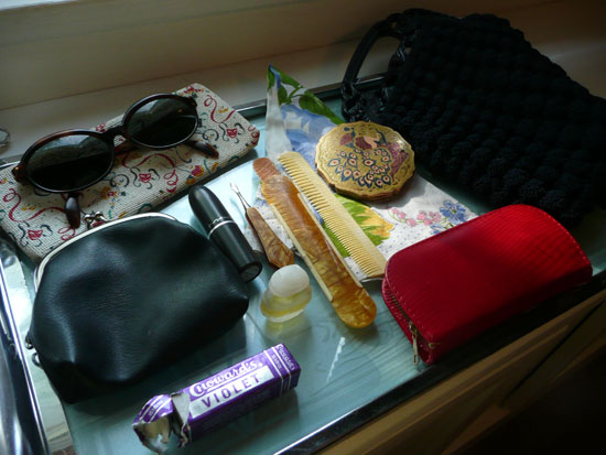vintage purse contents by Lady by Choice
