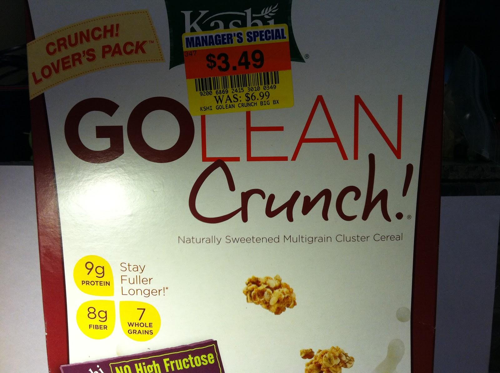 Crazy Food Dude: Review: Kashi GOLEAN Crunch! Cereal