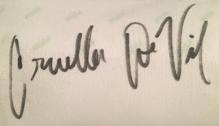 Cruella De Vil Autograph Disney Parks