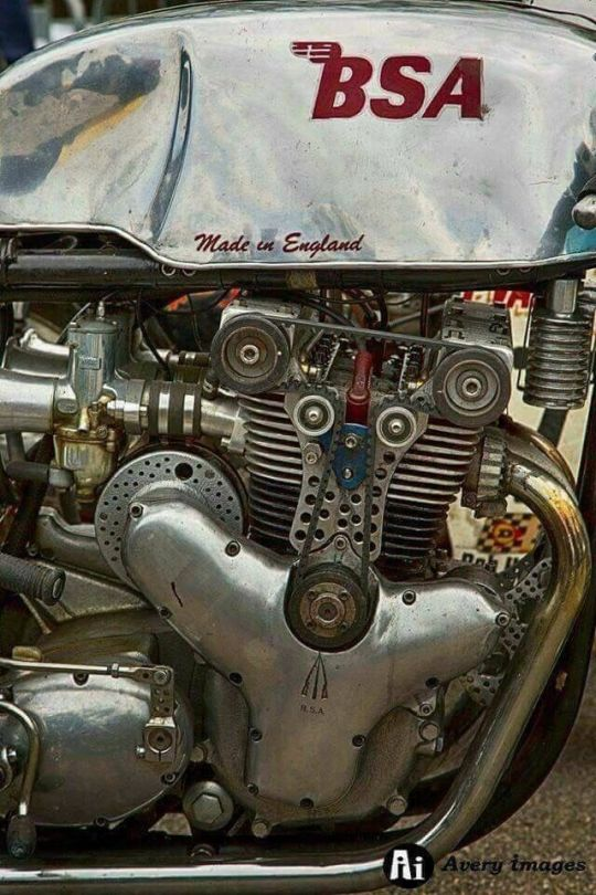 Double Overhead Cam BSA motor - Photo Avery Images