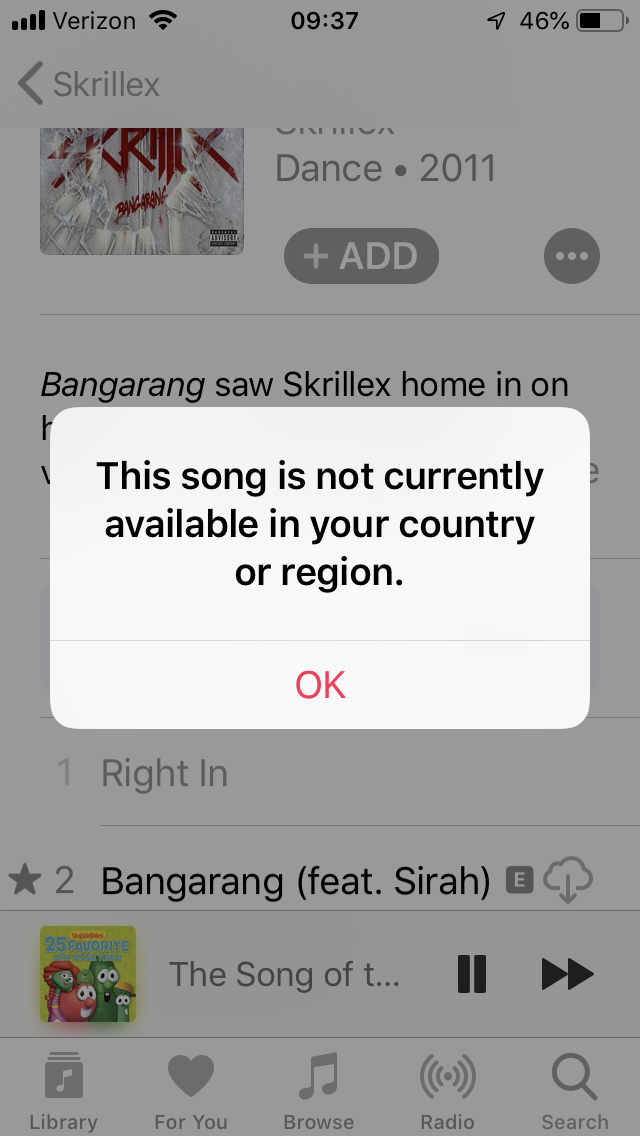 This song is not currently available in your country or