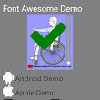 Using Font Awesome to build your own user controls in Nativescript