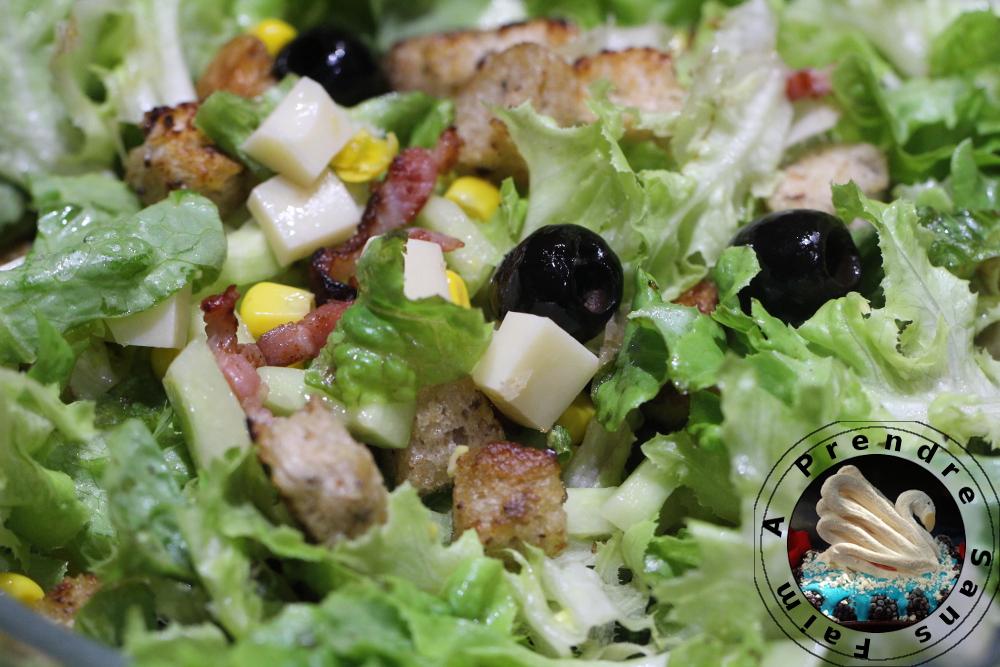 Salade fraîche aux lardons