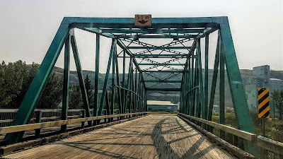 The first bridge en route to Wayne, Alberta