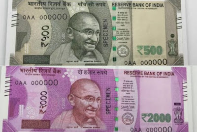 500 and 1000rs Images Taken by Social media