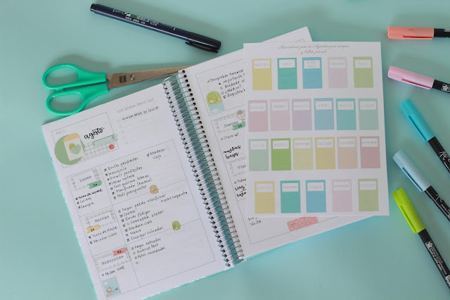 Descargable: marcadores para tu bullet journal
