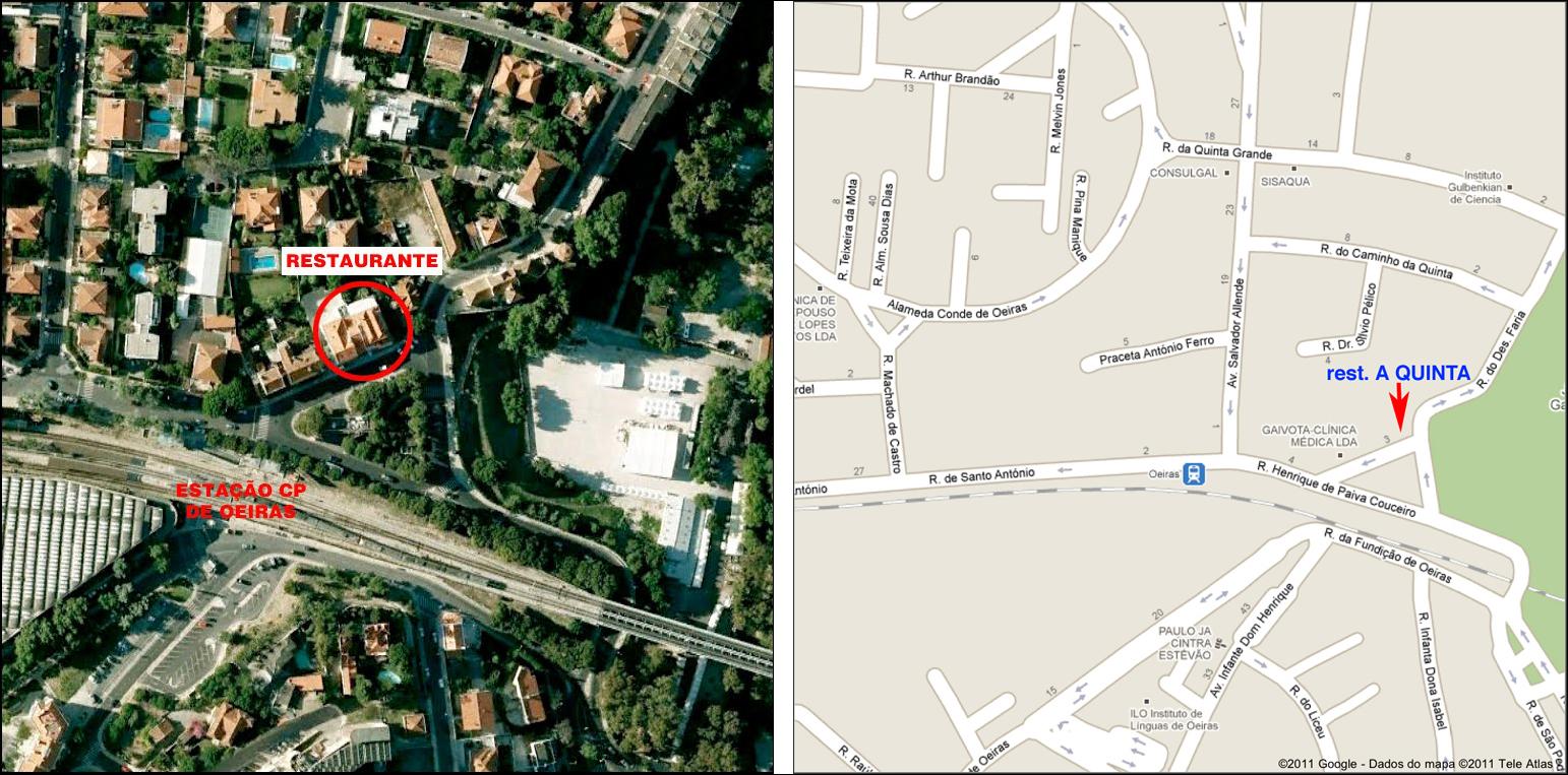 localização do restaurante A Quinta 301814cb75