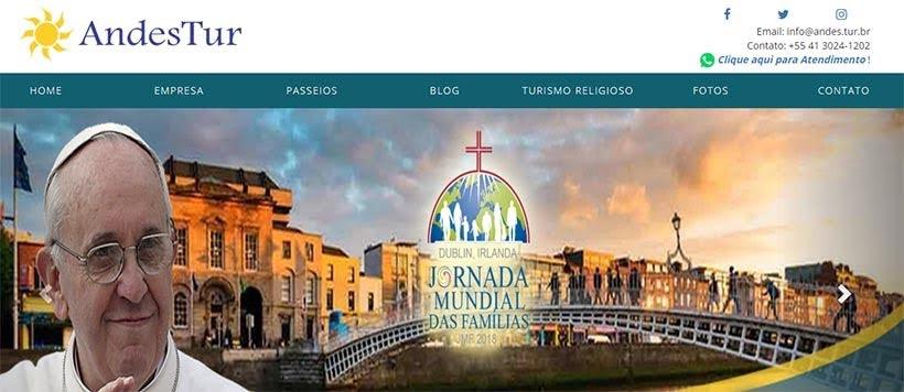 Site da Andes Tur de Curitiba