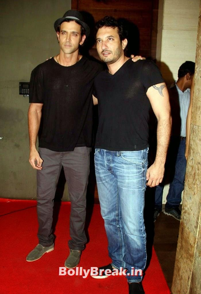 Hrithik Roshan, Homi Adajania, Deepika, arjun, Hrithik Pics from Finding Fanny Movie Screening