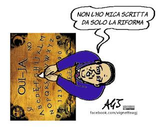 renzi, riforme costituzionali, referendum costituzionale, vignetta, satira