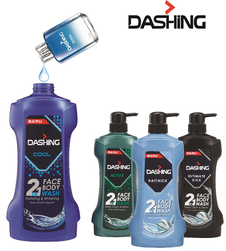 Beauty by Rawlins, Dashing 2 in 1 Face & Body Wash, Dashing, Active, Cool. Hattrick, Ultimate Kick, 2 in 1 wash for men