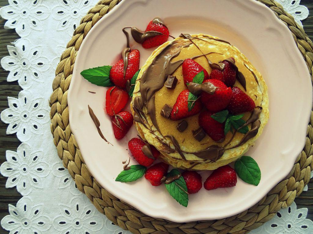 Nieco grubsze naleśniki - pancakesy