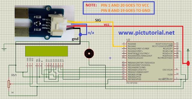 Microcontroller Based Soil Moisture Meter circuit