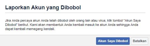 akun facebook di hack
