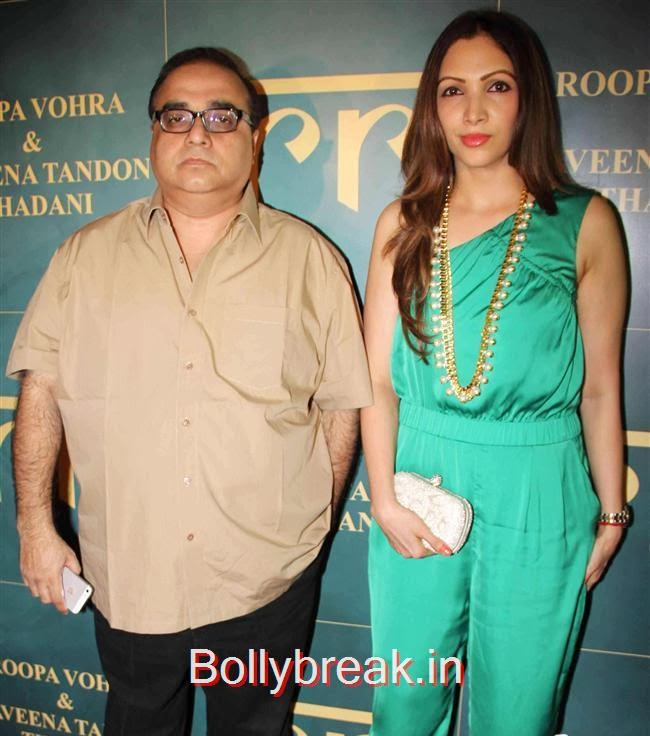 RajKumar Santoshi with his wife Manila Santoshi, RR Jewellery Line Launch