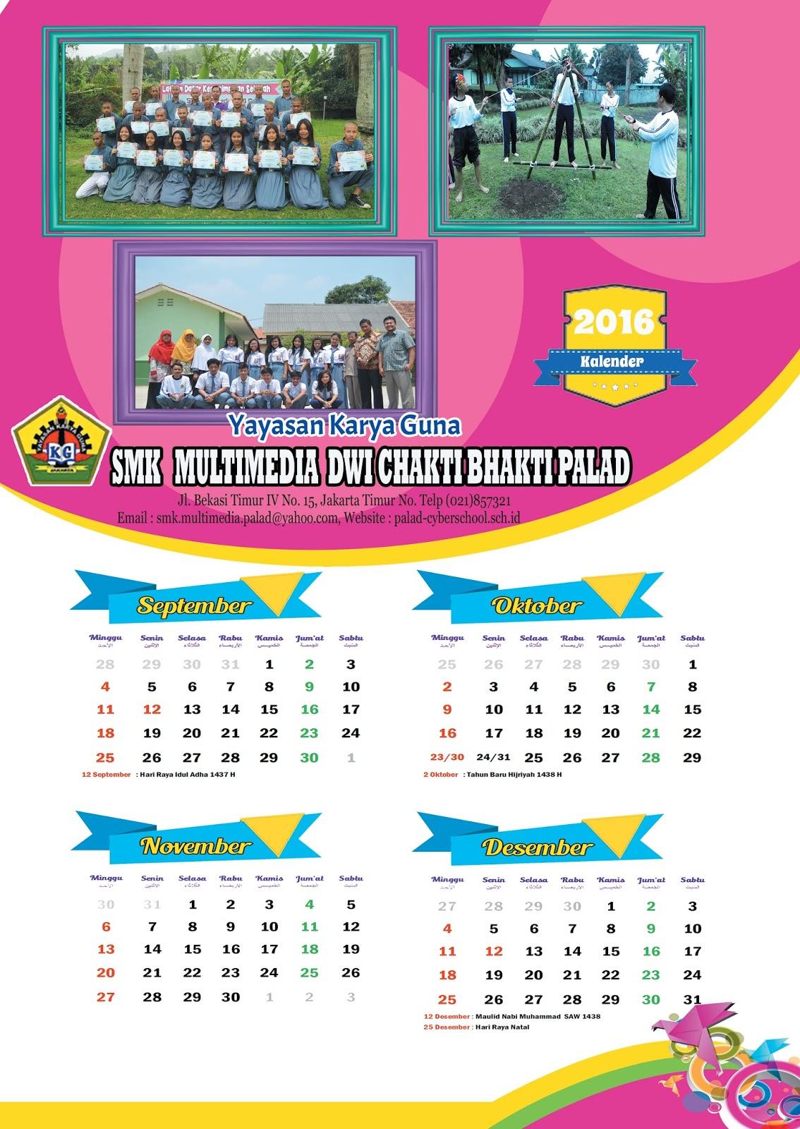 desain kalender sekolah | Catatan Kehidupan