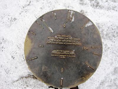 Bronze plate showing peaks around Deeside