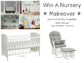 Enter the EvgieNev Win a Nursery Makeover Giveaway. Ends 9/29. Open WW.