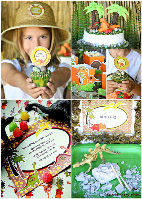 Dinosaur Birthday Party Ideas and Printables - BirdsParty.com