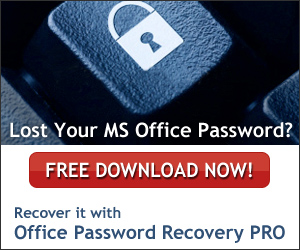 Recover Password with Office Password Recovery PRO