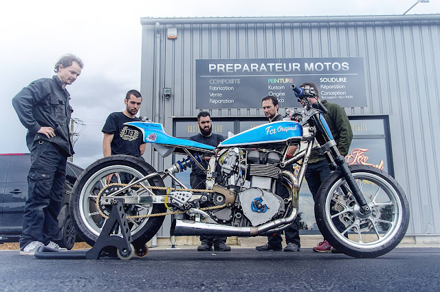 The crazy bonnie rocketgarage cafe racer magazine for Appoggiarsi all aggiunta al garage