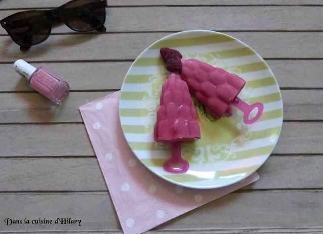 Popsicles girly framboise, fraise et yaourt
