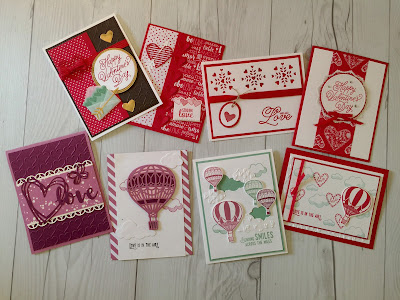 Valentine and Balloon cards we'll make in class