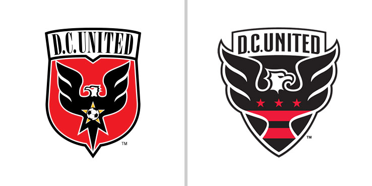 This Image Compares The Previous DC United Logo With New One Set To Be Used From 2016 MLS Season