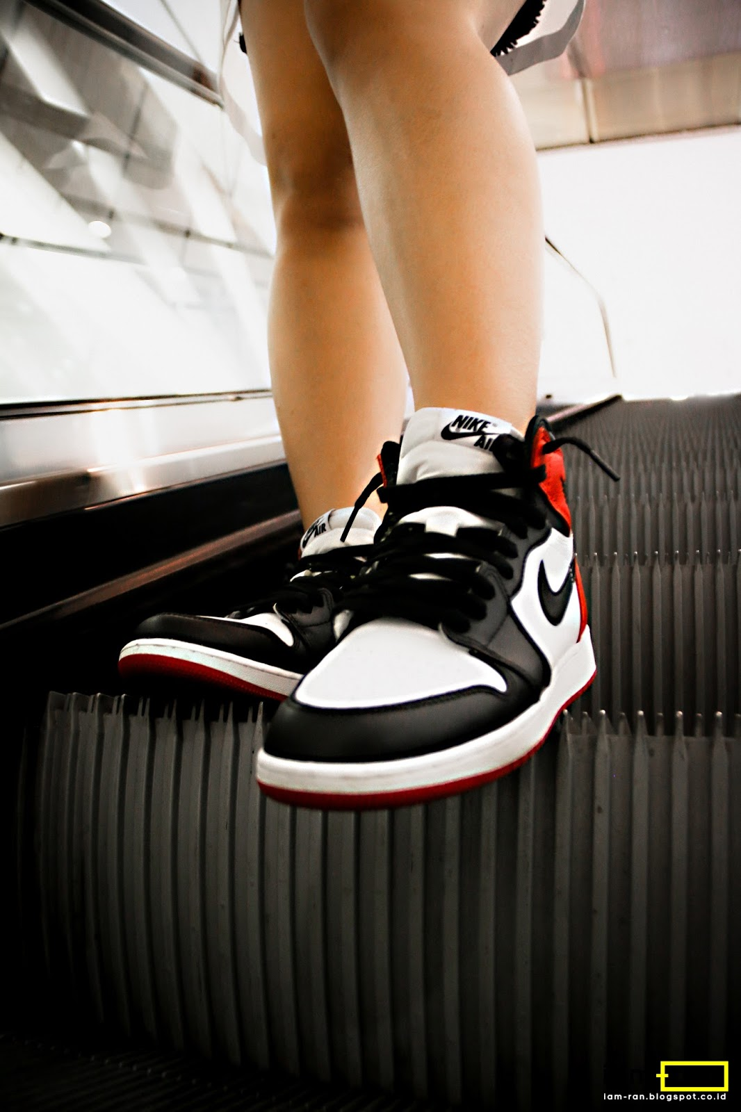 ... Nike Air Jordan 1 Black Toe. Agnes on feet. Sneakers ... bd8f6b1db