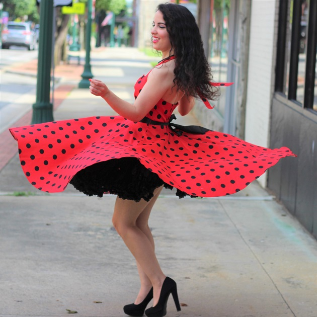 Polka Dot Retro Pin Up Dress