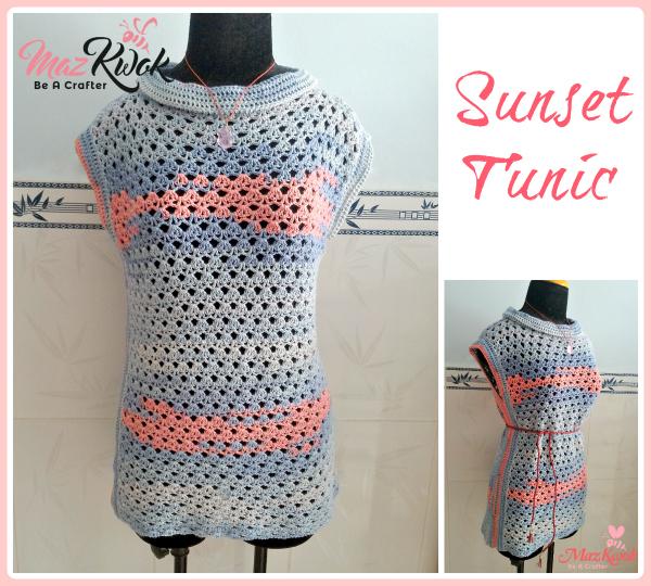 crochet cowl neck top