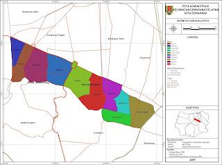 Peta Administrasi Kecamatan Semarang Selatan, Kota ...