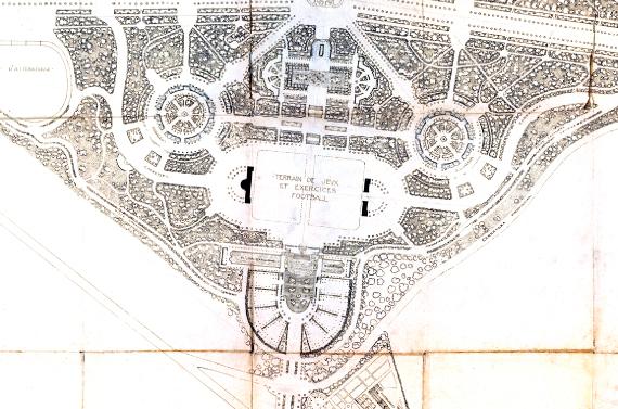 Parc d'Esports, Estadi i Piscina