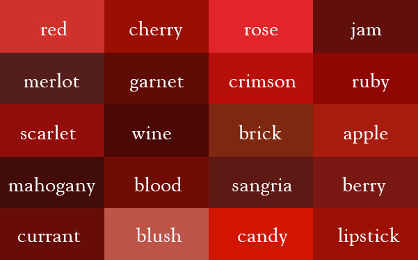 Figure 2 Variations Of The Red Color