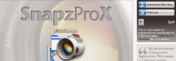 Snapz Pro X - Screen capturing app for Mac