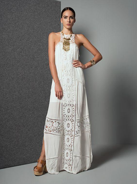 Vestidos blancos largos ¡10 bellas ideas!