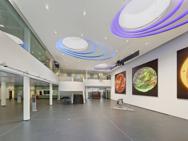 pop ceiling art with LED lighting for commercial places and recessed ceiling lights