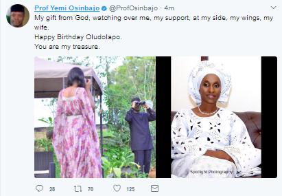 """My-Gift-And-Treasure-From-God"" --Acting-Pres.-Yemi-Osinbajo-Celebrates-Wife-On-Her-50th-Birthday"